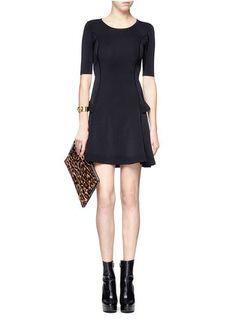A.L.C.Textured-trim short-sleeve dress