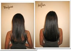Before & After Great Clip-In Extensions For Black Women