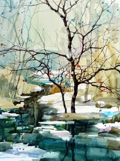 Z.L. Feng, 1954 ~ Watercolor painter