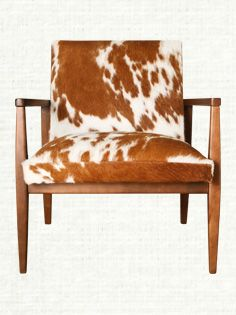 Pair of Cowhide Queen Ann ChairsFrom a unique collection of