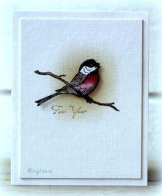 CC383 Bird by Biggan - Cards and Paper Crafts at Splitcoaststampers