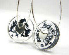 Carborundum Mineral Earrings Resin Earrings With by sisicata, $30.00