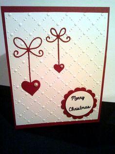 Weihnachtskarten mit Herzen