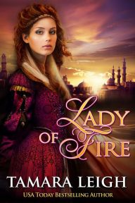"Note: LADY OF FIRE is a ""clean read"" rewrite of Tamara Leigh's 1995 Bantam Books bestseller, PAGAN BRIDE. Unlike LADY AT ARMS and LADY OF EVE, it is a standalone novel.   DANGEROUS Believing only death will prevent him from returning to England, Sir Lucien de Gautier answers his king's call to arms. When he is captured and his family refuses the ransom demand, he finds himself bound to the oars of a galley. Enraged and embittered, he has no hope of escape--until a rich merchant's wife offers…"