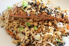 Sesame Soy Salmon is an easy dinner - get more fish.