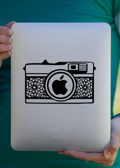 Lace Camera iPad Decal / Macbook Decal  / Laptop Decal. $7.99, via Etsy.