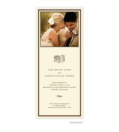 After The Wedding Party Invitations Or Elopement Photo Ecru Fine Lines