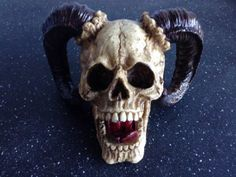 Human-Goat-Skull-Replica-Resin-Halloween-Realistic-Lifesize-Gothic-Prop-Ornament