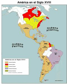 Las americas en el siglo XVIII Fallen Empire, Hispanic Heritage Month, France Map, Alternate History, Mystery Of History, Historical Maps, Dream City, World History, National Geographic