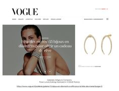 Our Lunula Earrings with Pave were featured in French Vogue! Vogue, Paris Mode, Line Design, Fine Jewelry, French, News, Earrings, Ear Rings, Stud Earrings