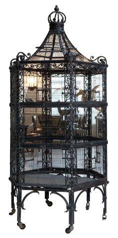 ~Art Nouveau Wrought Iron Birdcage~