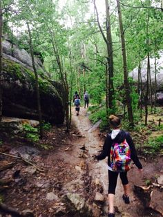 Residents hiking thr