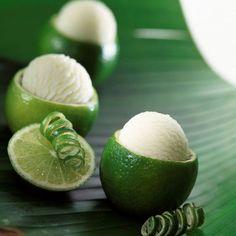 Sorbet au citron vert et au miel