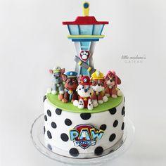 Paw Patrol Birthday Cake made with Satin Ice Fondant Paw Patrol Birthday Cake, Superhero Birthday Cake, 3rd Birthday Cakes, Paw Patrol Party, 4th Birthday, Paw Patrol Tower, Torta Paw Patrol, Cumple Paw Patrol, Puppy Cake