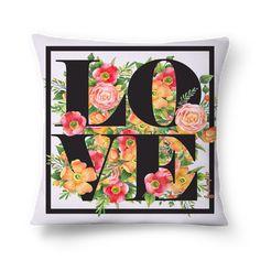 Compre Amor & Flores de @jurumple em almofadas de alta qualidade. Incentive artistas independentes, encontre produtos exclusivos.