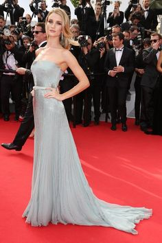 Cannes Film Festival 2014: Rosie Huntington-Whiteley in a Gucci grey gown