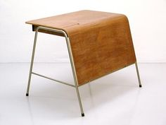 LOVE this vintage teacher's desk by arne jacobsen