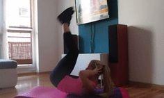 Ćwiczenia na płaski i silny brzuch (gify)