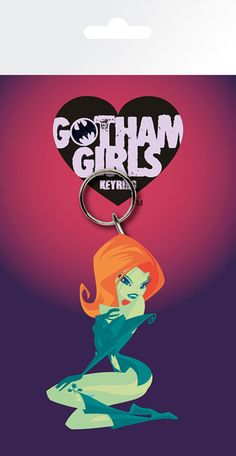 Batman - DC Comics - Poison Ivy - Rubber Key Ring. Metal chain. Officially licensed product. FREE SHIPPING.