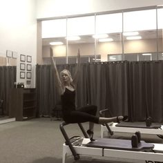 Try this single leg #footwork variation on the reformer. It is a good test for your lumbar pelvic stability and hip flexors strength. Add rotation with arms straight up to get nice opening in thoracic spine. Probably one ❤️ resistance is enough for this exercise to make it challenging and safe. #pilates #pilateslovers #pilatesreformer #powerpilates #stayfit #instapilates #pilateseveryday #pilatesforeveryone #totalbodyworkout #workout