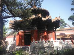 A Pagoda in Forbidden City built for the emperor that is located inside his personal  garden. Beijing, China.