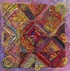 Indian Mosaic Silk & Textile Creative Embroidery Kit SFIM