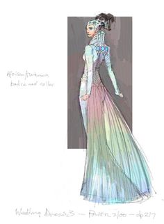 Star Wars Fit For A Queen Padme S Wedding Gown Concept Art By