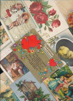 Antique  Mixed Lot of 25 Holidays & Greetings  Postcards-Vintage-a-510 #HolidaysGreetings