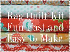 Ardently Austin Rag Quilt Kit,  Super Simple to Make, Personalized by beffie48 on Etsy