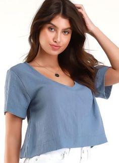 Boutique, V Neck, Tops, Women, Fashion, Online Shopping, Casual, Plunging Neckline, Feminine Fashion