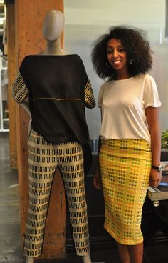 Mahlet Afework with (and wearing) Mafi designs. | The United Nations had a fashion show, and it was actually good