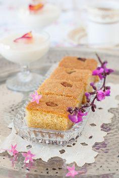 Cardamom Semolina Cake with Rosewater Syrup
