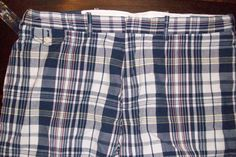 NWT POLO RALPH LAUREN SPORTSWEAR PLAID FLAT FRONT SHORTS W42 42  BLUE WHITE $79 #PoloRalphLauren #CasualShorts