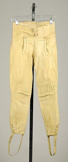 Trousers 1800-1810. Leather. Met museum