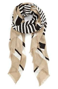 Vince Camuto Stripe Oversized Wrap | Nordstrom