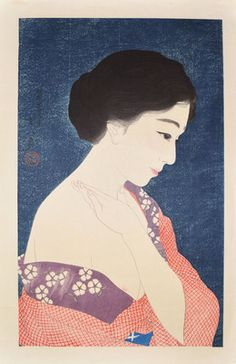 Kotondo Torii, 'Applying Make-up,' 1929, Ronin Gallery ~ETS #portraiture #japaneseart