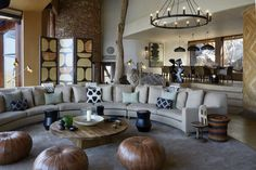 Newly redesigned Singita Malilangwe House opens in the private, remote Malilangwe Wildlife Reserve African Interior Design, Interior Design Inspiration, Living Area, Living Spaces, Outdoor Areas, Hotels And Resorts, Interior Decorating, House, Nature
