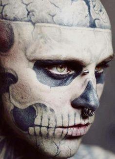 #face #skull #tattoo #ink