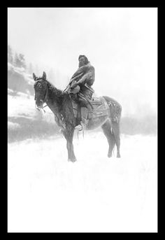 The Scout in Winter - Crow 1908, by Edward S. Curtis
