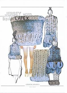 Fashion Sketchbook - knitwear design development; fashion sketches; fashion portfolio // Valentina Desideri
