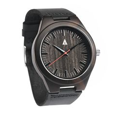 Tree Hut Black Watch | Red Theo Wooden Watch