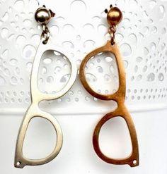 Coco's Room Creations - Orecchini handmade con occhiali Glasses, Bijoux, Eyewear, Eyeglasses, Eye Glasses, Sunglasses
