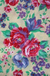 1980s floral cotton blend