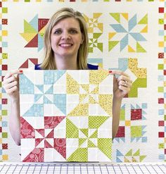 Double Windmill Block in the Wishes Quilt Along by Fat Quarter Shop, via Flickr