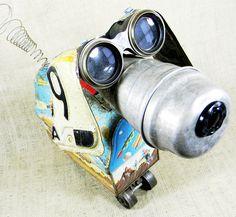 ROCKET  vintage lunchbox robot dog  Reclaim2Fame by reclaim2fame, $249.00