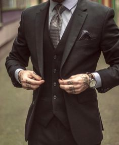 Love the tats in a classy setting.