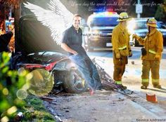Paul Walker Car Crash Place and Dead Body Photos Dead Body Photos, Paul Walker Car, Paul Walker Pictures, Angels In Heaven, Fast And Furious, Furious 6, Rest In Peace, Beautiful Soul, Dreams