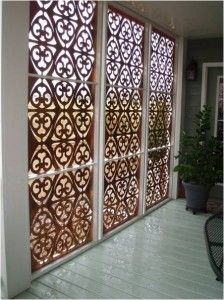 I would love these copper screens to line the walls of my the huge room that will then lead to my beautiful swimming pool.