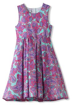 Pink & Turquoise Paisley Cotton Dress For Girls. Visit stella cove and shop our stylish dresses for girls. One of our various lovely designer dresses
