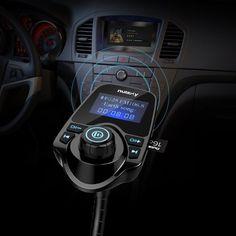 Amazon.com: Nulaxy Wireless In-Car Bluetooth FM Transmitter Radio Adapter Car…